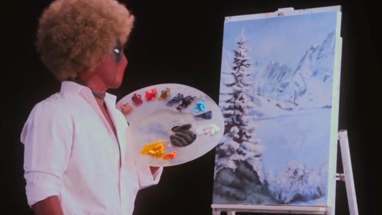Deadpool imiteert schilder Bob Ross in teaser nieuwe film