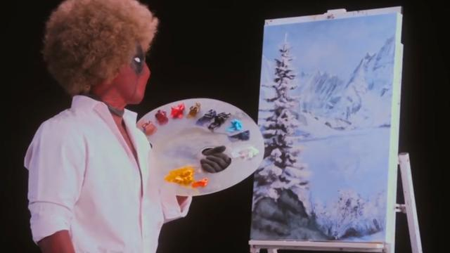 Deadpool imiteert schilder Bob Ross in teaser nieuwe film
