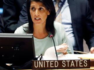 Nikki Haley beklemtoont niet af te zien van vredesplan