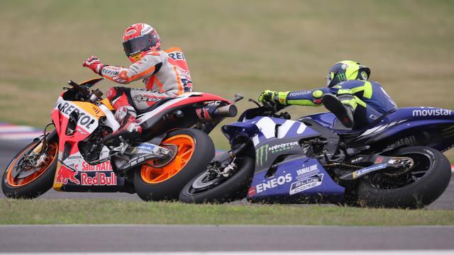 Marquez heeft geen spijt van aanvaring met Rossi in Argentinië