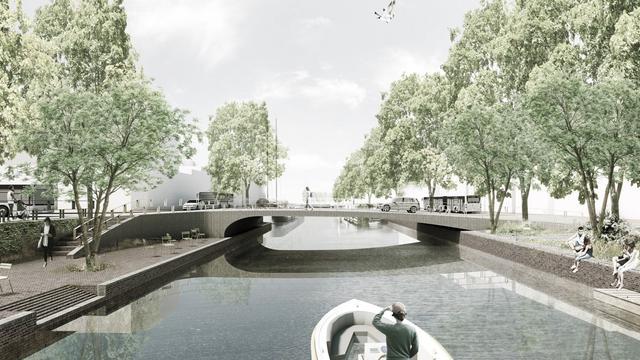 Stadsbestuur kiest voor vaste Kattenbrug, verlaagde kades en gele steentjes
