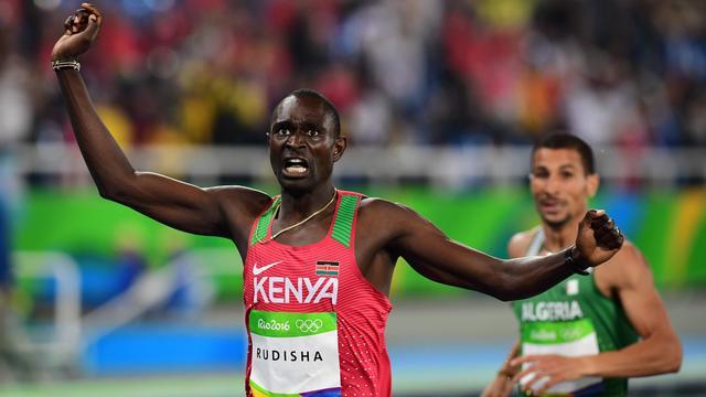 Rudisha prolongeert titel op 800 meter, Felix verslagen op 400 meter