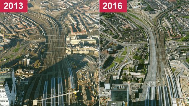 ProRail rondt spoorvernieuwing in Utrecht af