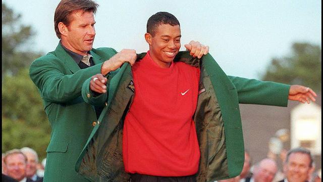 Woods wint Masters in 1997