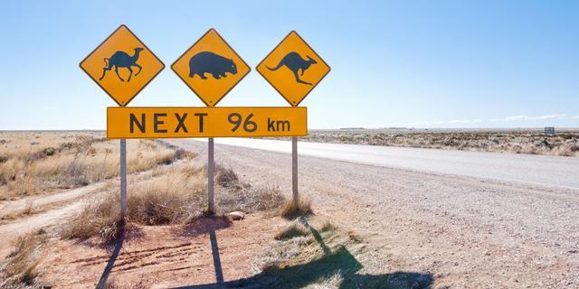Australië schuift millimeters heen en weer onder invloed seizoenen