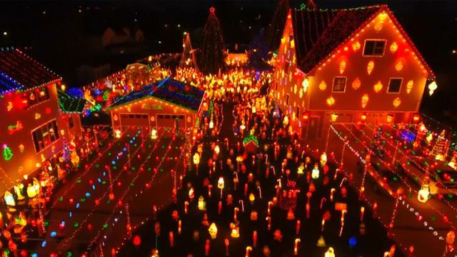 Gezin uit Pennsylvania pakt groots uit met kerstversiering