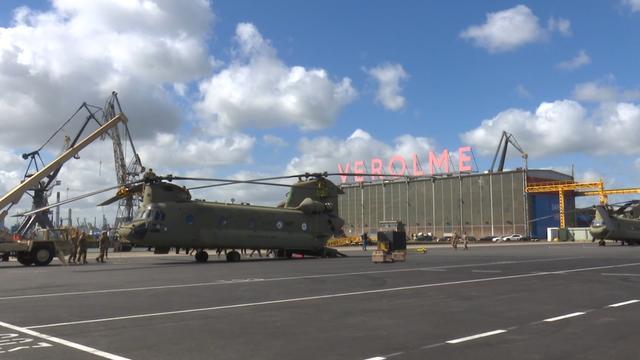 Haven Rotterdam schakel in verplaatsen troepen VS