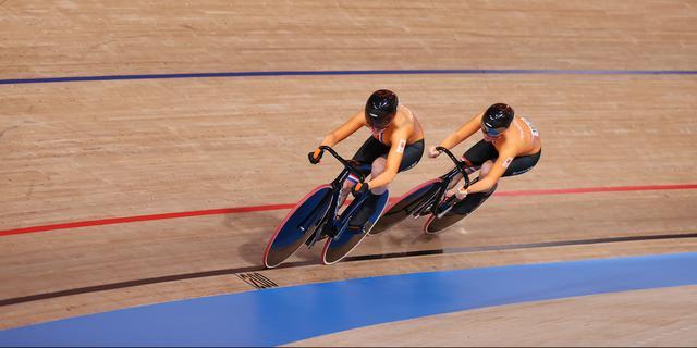 Braspennincx en Van Riessen verliezen strijd om brons op teamsprint