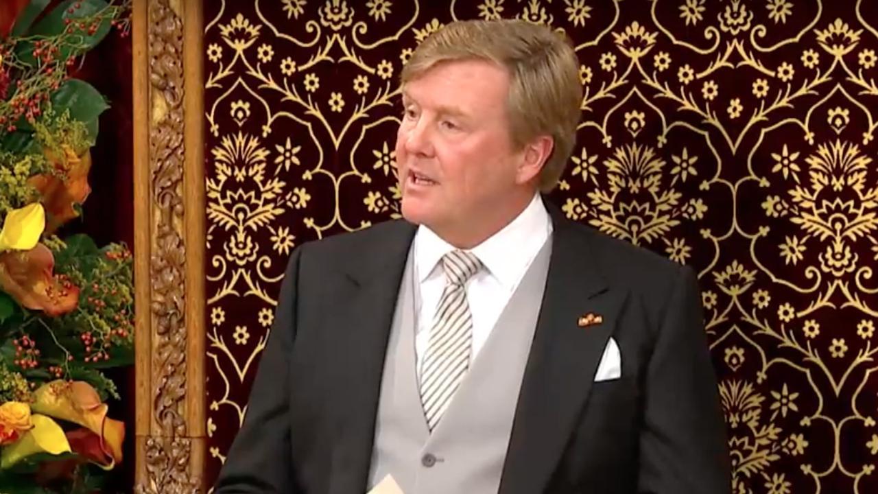 Koning Willem-Alexander spreekt troonrede uit