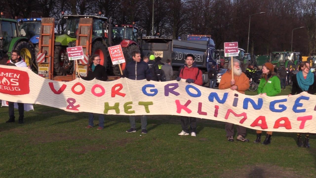 Groningse boeren protesteren op Malieveld in Den Haag