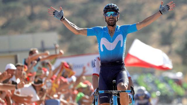 Valverde wint op lastige slotklim in Vuelta, Kelderman derde in klassement