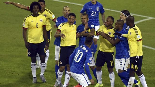 Brazilië verliest van Colombia, rode kaart Neymar