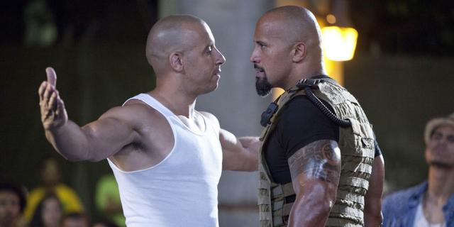 The Rock en Vin Diesel waren nooit samen op set Fast & Furious 8