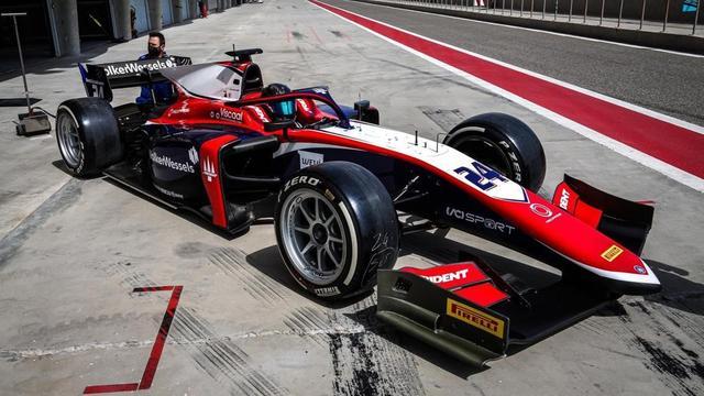 Viscaal had even de tijd nodig om te wennen aan zijn Formule 2-auto.