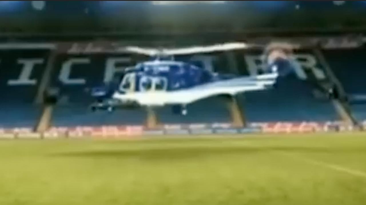 Nieuw beeld toont helikopter vlak voor fatale crash Leicester