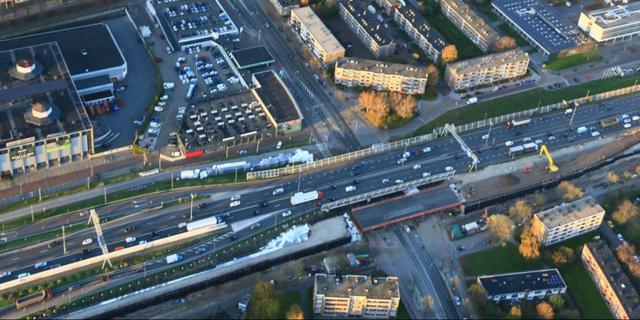 Spoordek zuidelijke ringweg wordt ingereden, ruim week lang geen treinen