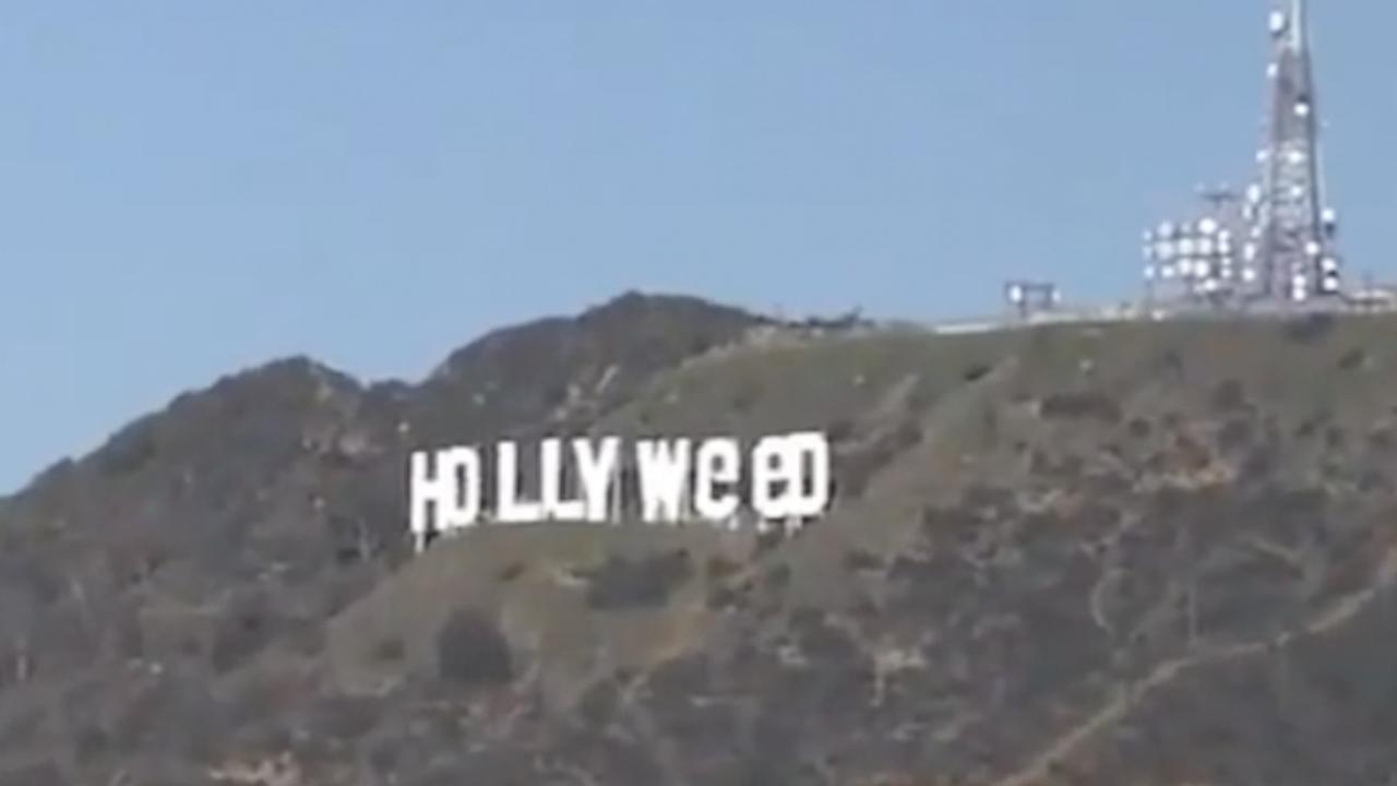 Vandaal verandert beroemd Hollywood Sign in 'Hollyweed'