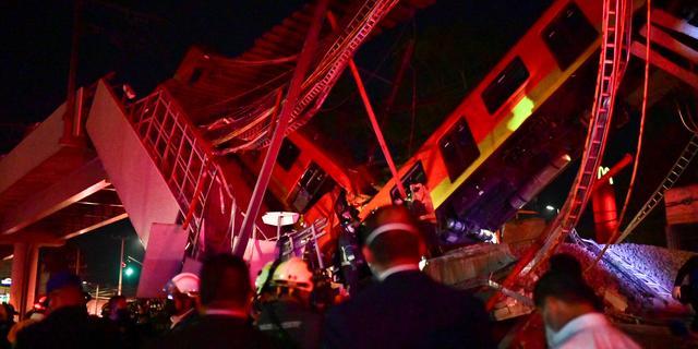 Zeker 23 doden en tientallen gewonden door ingestort metroviaduct in Mexico