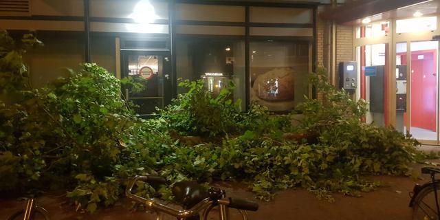 Zomerstorm Francis zorgt voor overlast in Leiden