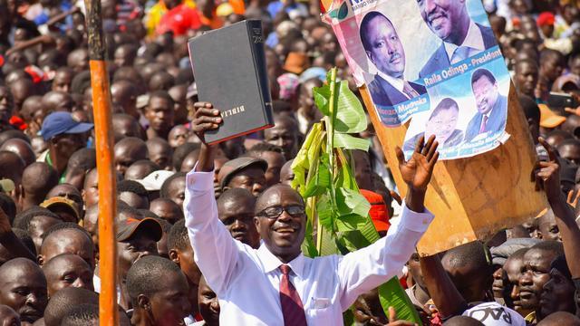 Keniaanse politie grijpt in bij 'beëdiging' oppositieleider als president