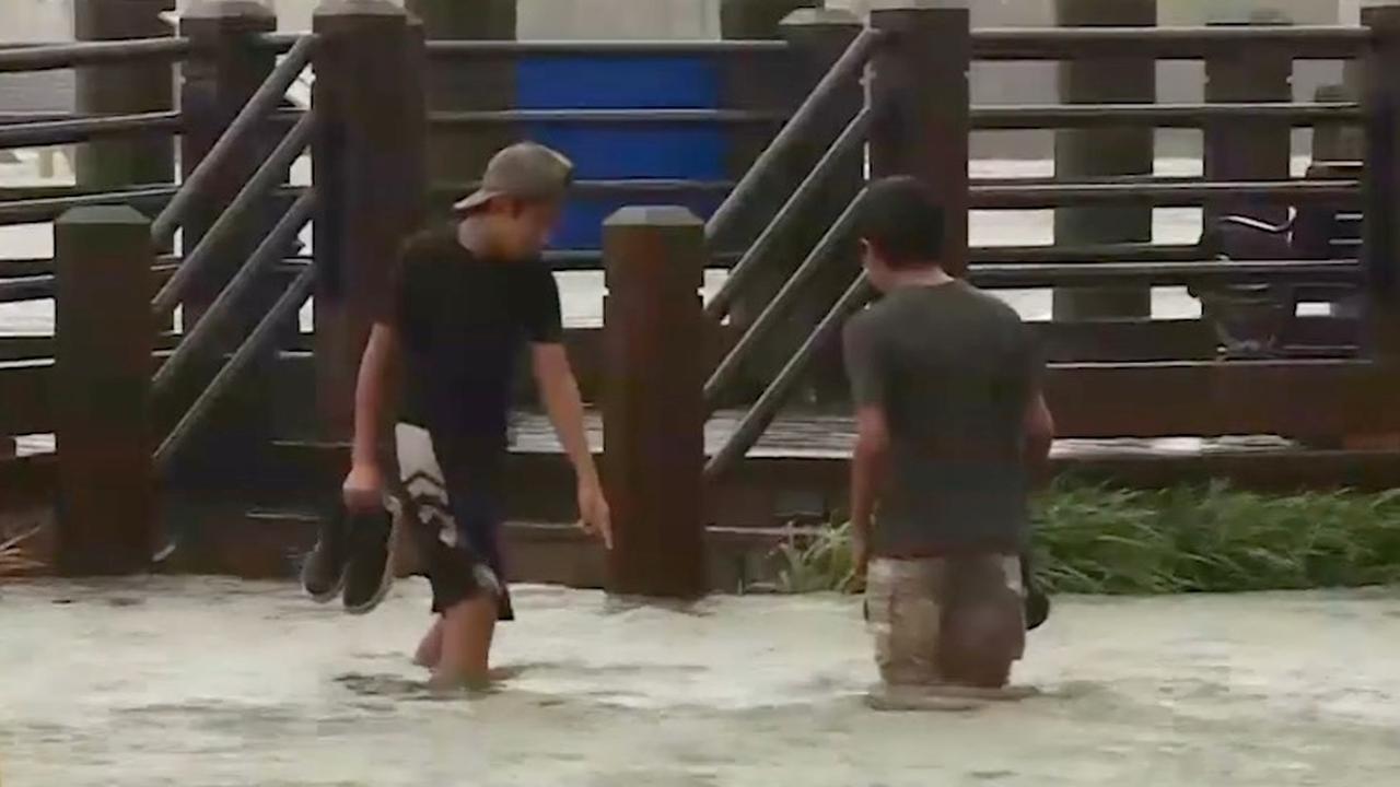 Straten blank in North Carolina door storm Florence
