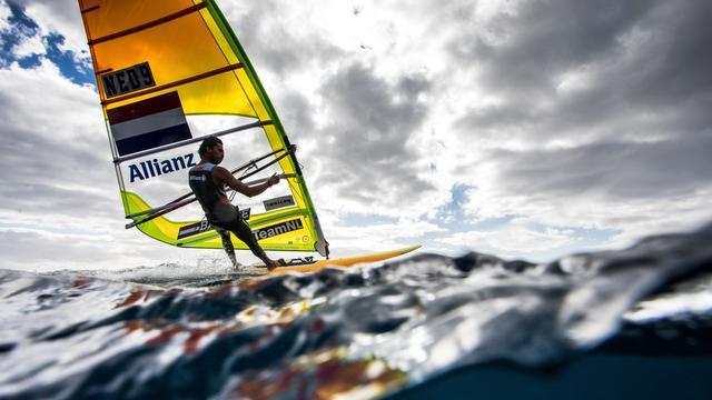 Kiran Badloe kan de laatste olympisch kampioen in de RS:X-klasse worden. Vanaf de Spelen van 2024 in Parijs gaan de windsurfers foilen.