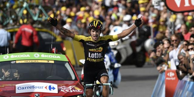 Roglic bezorgt Lotto-Jumbo eerste ritzege ooit in Tour, Froome blijft leider