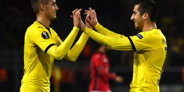 Dortmund, Napoli en Rapid Wien overwinteren in Europa League