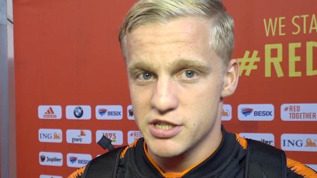 Van de Beek: 'Te slordig in eerste helft tegen België'
