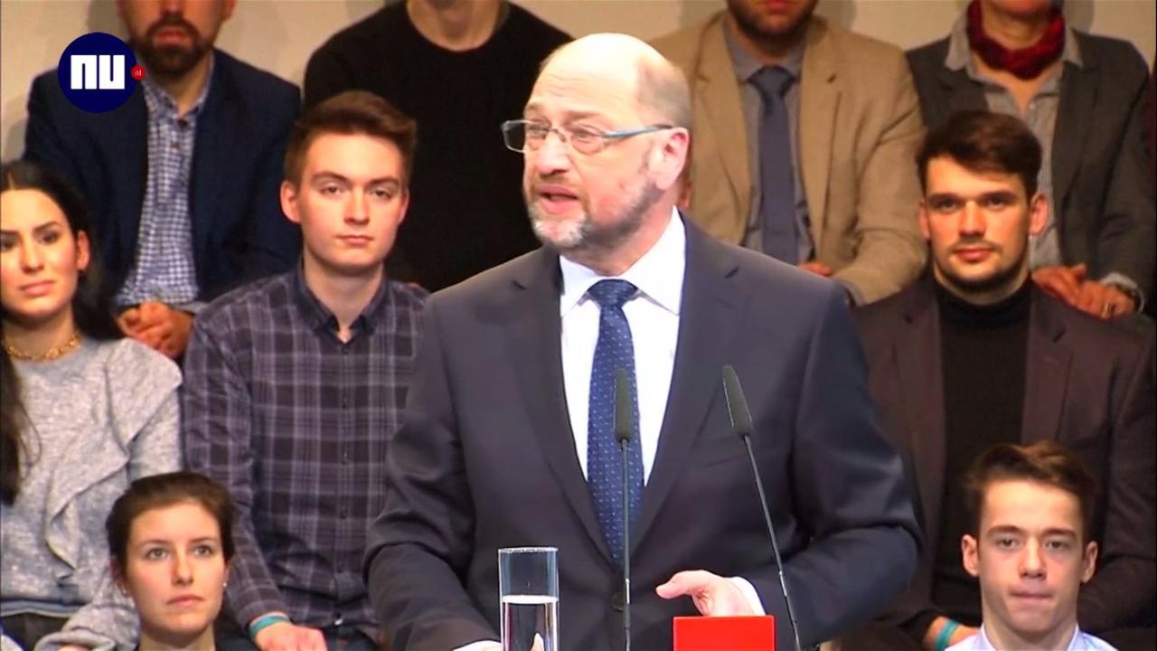 SPD-kandidaat Schulz wil van Duitsland stabiele factor maken