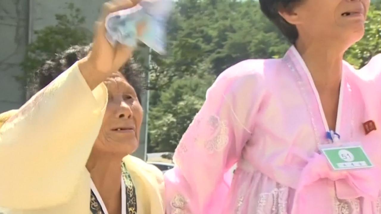 Koreanen in tranen bij afscheid na driedaagse familiehereniging