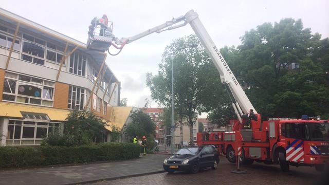 Basisschool Merwedestraat ontruimd wegens kleine brand