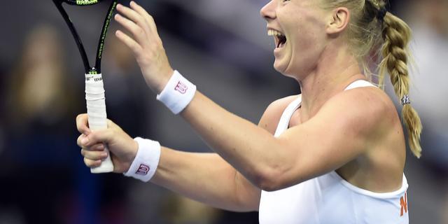 Nederland dankzij nieuwe stunt Bertens naar halve finales Fed Cup