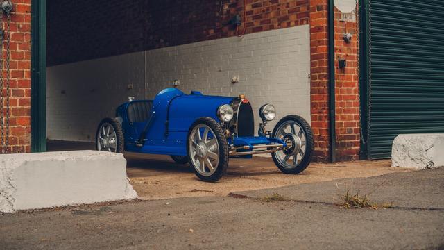 Elektrische speelgoed-Bugatti van 30.000 euro opnieuw te koop