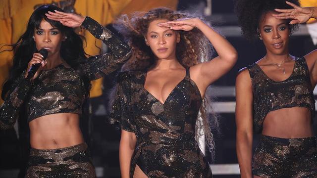 Beyoncé en zusje vallen tijdens optreden Coachella