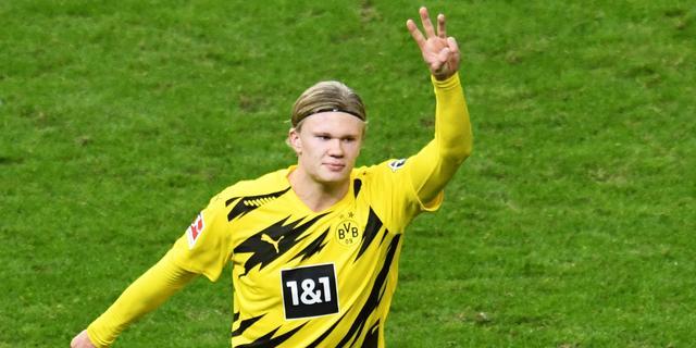 Topscorer Haaland staat tegen Wolfsburg voor rentree bij Dortmund