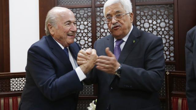 Blatter optimistisch na 'vredesmissie' in Israël en Palestina