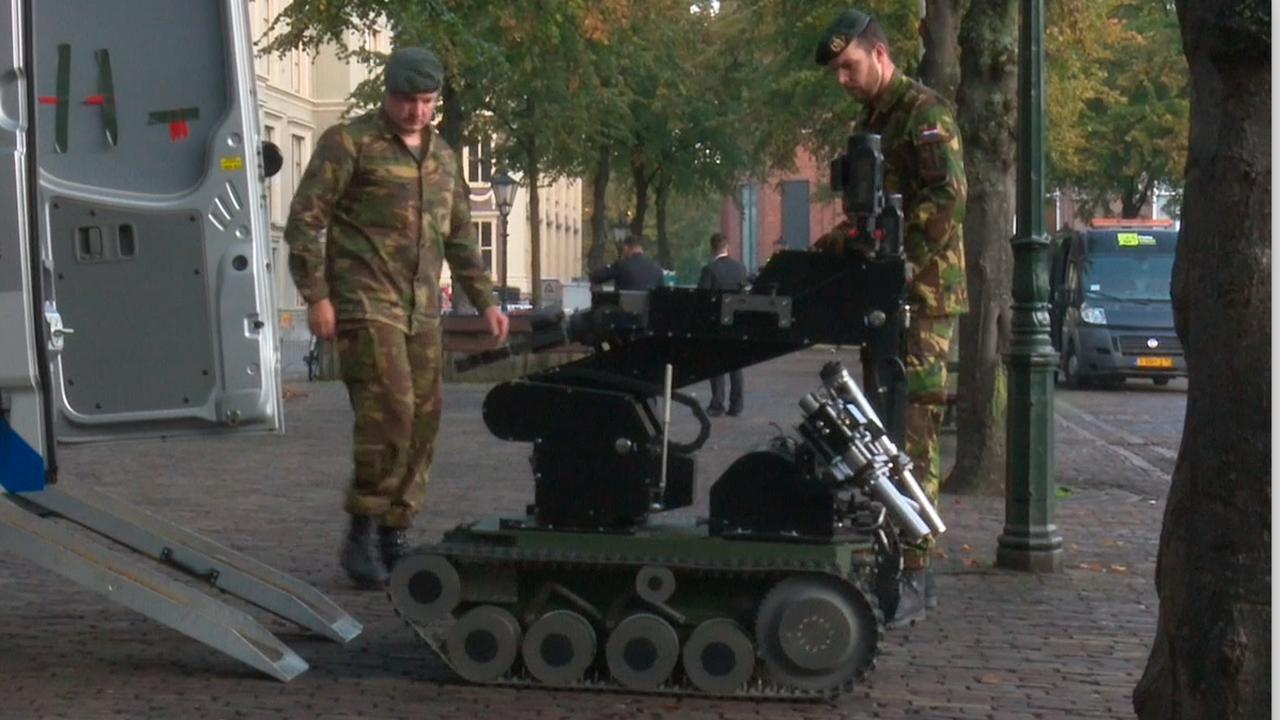 Defensie heeft explosievenrobot achter de hand voor veiligheid Prinsjesdag