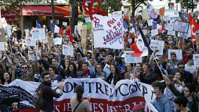 Tienduizenden Fransen betogen tegen nieuwe arbeidswet