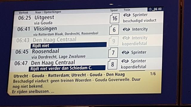 Treinverkeer van en naar Den Haag flink verstoord