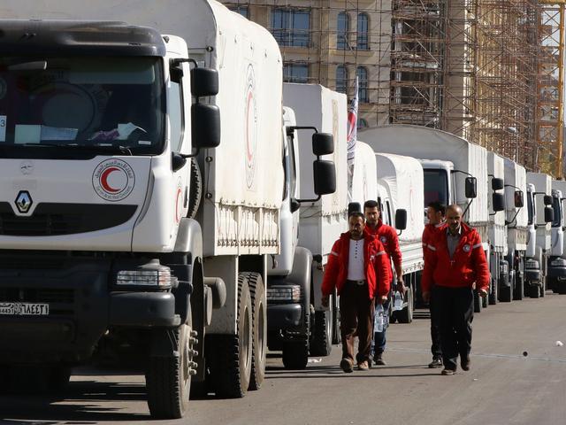 Opnieuw konvooi met hulpgoederen naar Oost-Ghouta