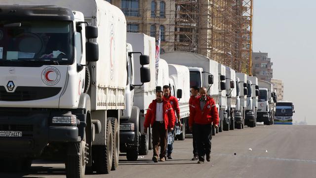 Hulpkonvooi aangekomen bij Damascus