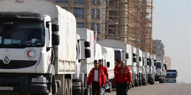 VN zegt dat Syrië nog steeds hulpkonvooien blokkeert