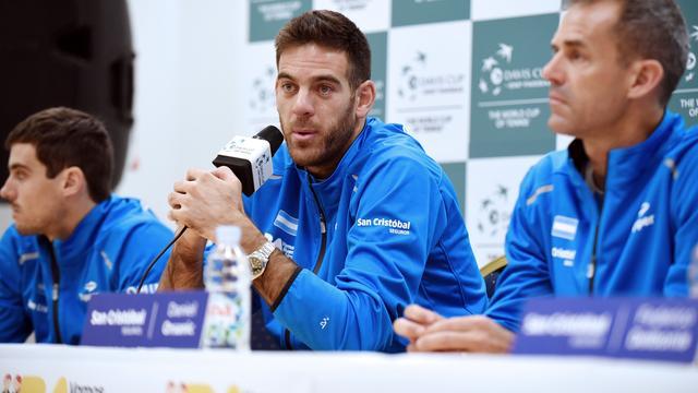 Del Potro ziet Kroatië als favoriet in Davis Cup-finale