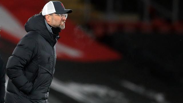 Jürgen Klopp was zichtbaar niet blij met het spel van Liverpool.