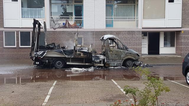 Twaalf appartementen Eindhoven ontruimd om brand met drugsafval