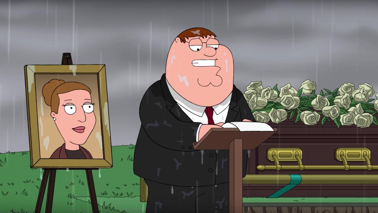Grafrede voor Carrie Fisher bij Family Guy