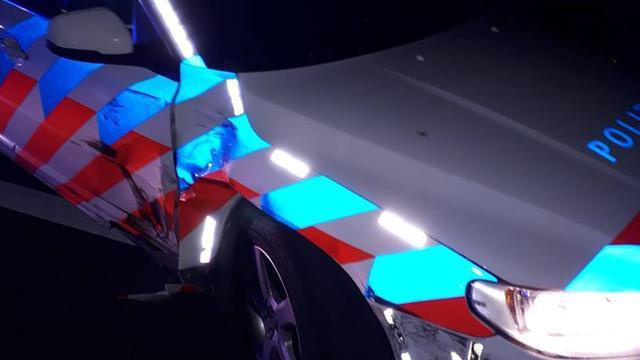 Autodief aangehouden op A4 na achtervolging door vijf politieauto's