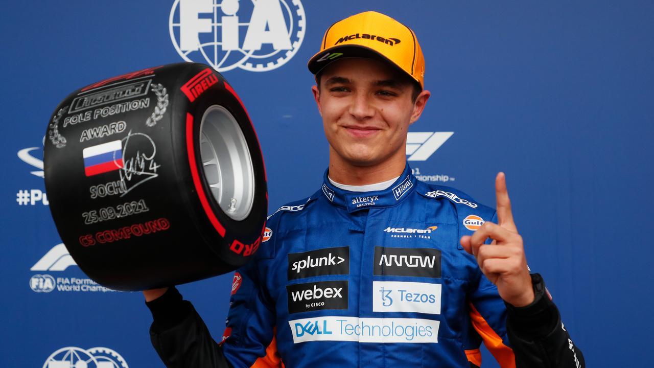 Norris pakt verrassende eerste pole in Rusland, Hamilton start als vierde |  NU - Het laatste nieuws het eerst op NU.nl