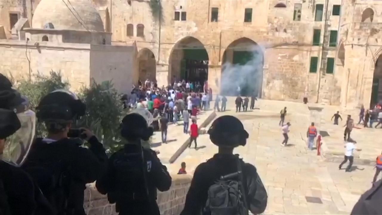 Israëlische troepen en Palestijnen botsen op Tempelberg